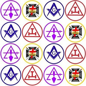 "Large 2"" York Rite 4 Bodies Banner"