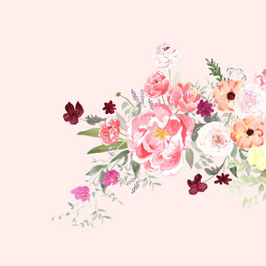 watercolor flower bouquet_pink-one repeat