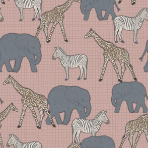 Elephants, Zebras, and Giraffes, oh my! Pink