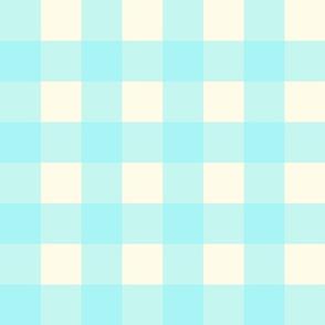 Blue and Ivory Plaid