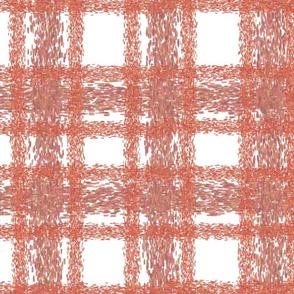 towel - redwood, white and mahogany plaid