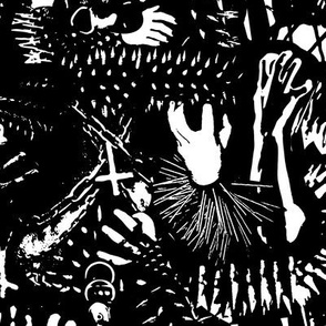 Black Metal Spikes and Claws