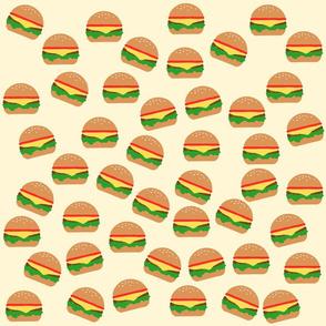 Cute Burgers Print