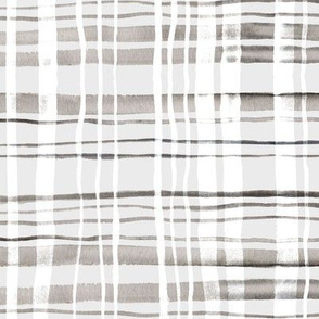 Plaid Grey & White Watercolor (Large Version)