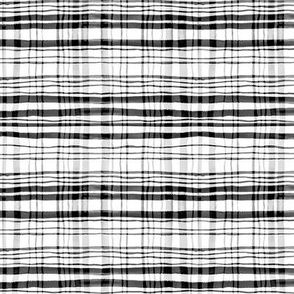Gingham Black, White & Grey Watercolor (Small Version)