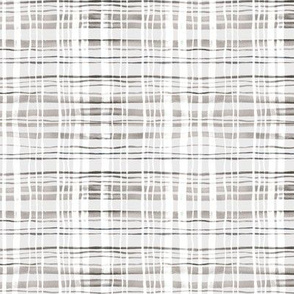 Plaid Grey & White Watercolor (Small Version)