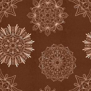 Zen mandalas copper