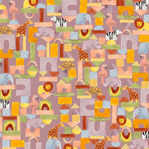 Safari Blocks Mauve