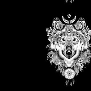 white wolf boho
