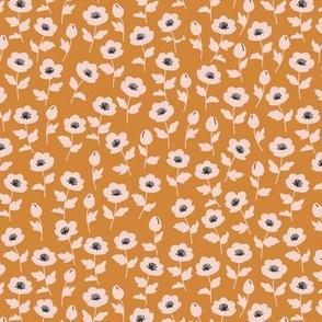 Lil poppy ditsy - Tangerine