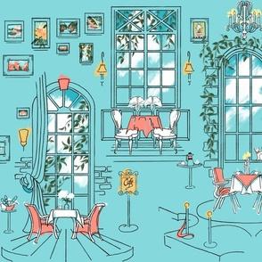 Paris Pastel Cafe | Sky Blue