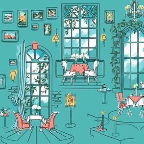 Paris Pastel Cafe | Cool Green