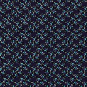 Blue flower trio