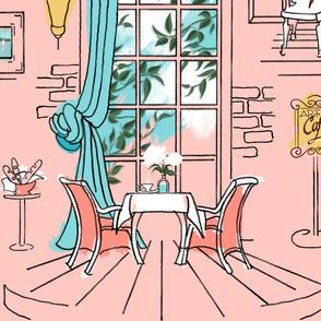Paris Pastel Cafe Large | Blush Pink