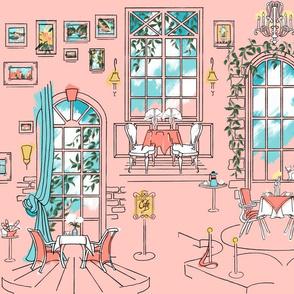 Paris Pastel Cafe | Blush Pink