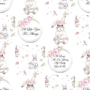 rabbit floral