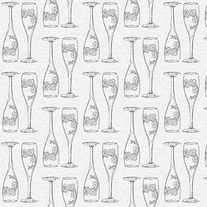 Monochrome champagne flutes only med - half drop