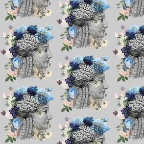 fabric blue brain