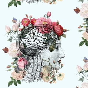 Anatomical Brain light blue