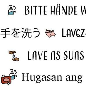 Wash your hands (2x) | Multi Language
