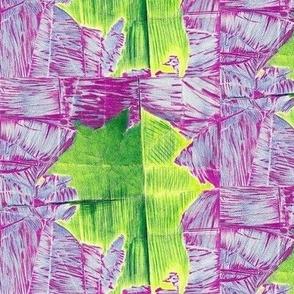 Green Leaf and  Mulbery Crushed on Blue Slate