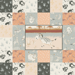 Safari Animals cheater quilt
