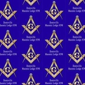 """Custom 1 Name Large 2"""" Blue Large Masonic Square Compass. You must contact designer BEFORE you place your order. Fabric print just like the preview shows."""