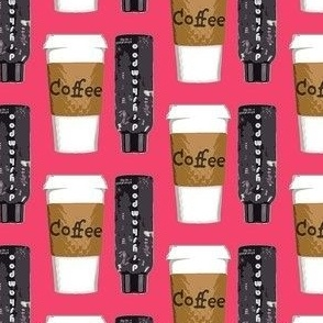 living off of coffee and dry shampoo - silly novelty fabric