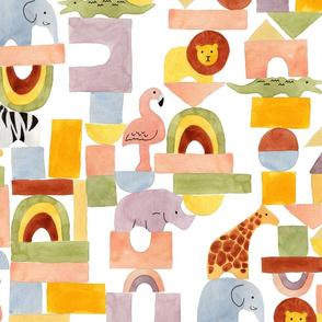 Safari Blocks White - Large
