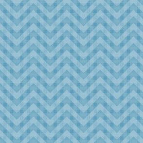 Vintage Blue Chevron Pattern (Small Scale)