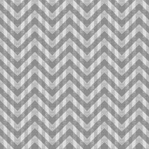 Vintage Gray Chevron Pattern (Small Scale)