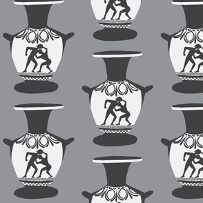 vase amphora gray