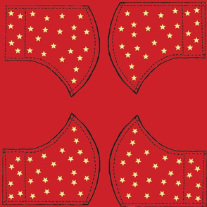 Starry Mask Red