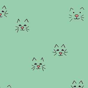 wild cat face