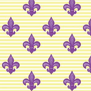 Purple FDL - Yellow Stripe