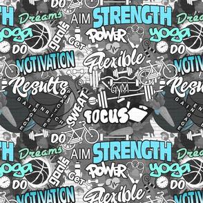 Fitness Graffiti Wall- Regular Scale
