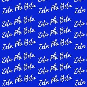 Zeta Phi Beta Fat Qtr  Small Print