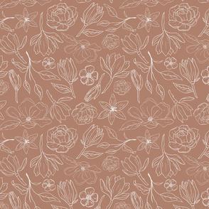Copper Magnolia Pattern