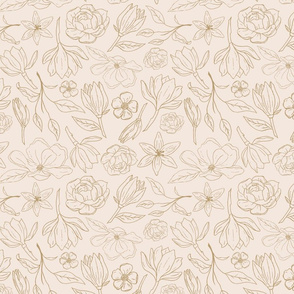 Gold Magnolia Pattern