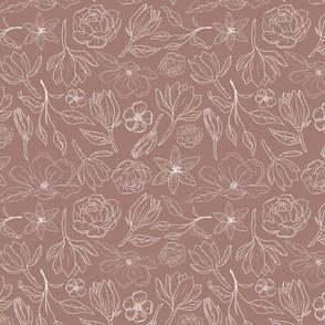 Mauve Magnolia Pattern