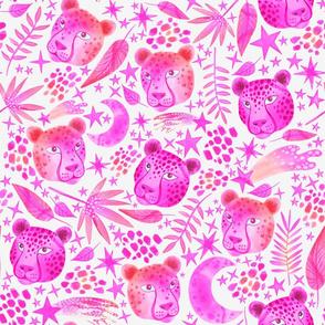 Midnight Cheetahs Pink