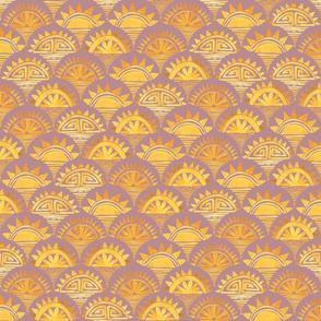 Savanna Sunrise Mauve and Gold