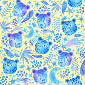 Cosmic Cheetahs Blue and Yellow