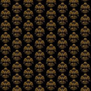 """Med. 1"""" Scottish Rite NMJ 33 Black Gold"""
