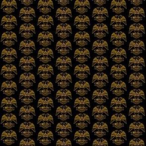 """Med. 1"""" Scottish Rite 32nd NMJ Black Gold"""