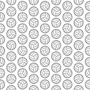 Volleyball Print in Black & White (Small Scale)
