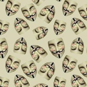 Guy Fawkes Masks on Tan
