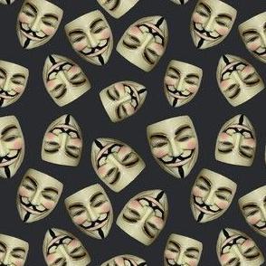 Guy Fawkes Masks on Gunpowder