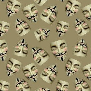 Guy Fawkes Masks on Brown
