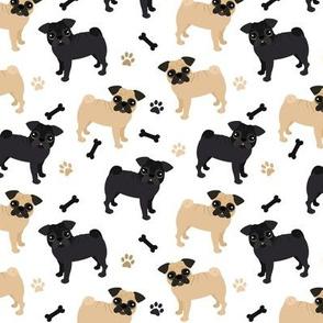 Pug Dogs White